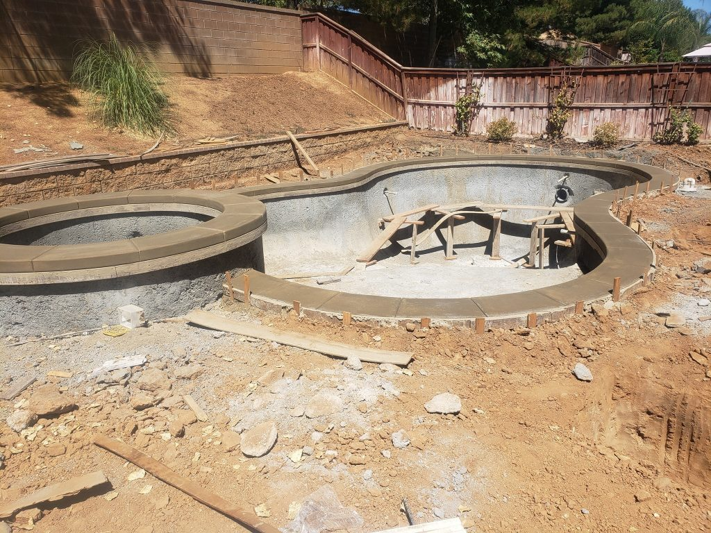 New Pool and Hot Tub Construction